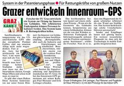 Article in Kronen Zeitung